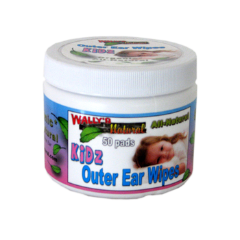 Wally's Natural Kidz Outer Ear Wipes (50 Pads)