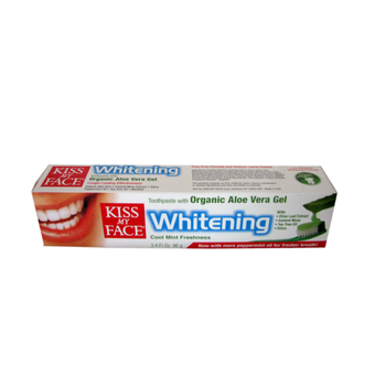 Kiss My Face Whitening Toothpaste with Organic Aloe Vera Gel