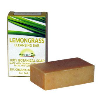 Anwaar Co. Lemongrass Cleansing bar 100% Botanical Soap made with organic sunflower, palm, and coconut oils