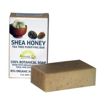 Anwaar Co. Shea Honey 100% Botanical Soap made with organic sunflower, palm and coconut oils
