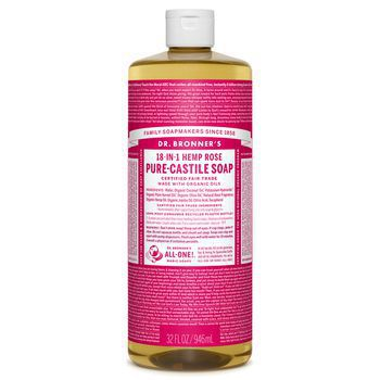 Dr Bronner's Rose Pure-Castile Liquid Soap - 32oz