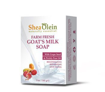 Farm fresh goat's milk soap with grape seed & prickly pear oil