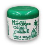 Natures Natural Coconut with Vitamin E for Hair and Scalp